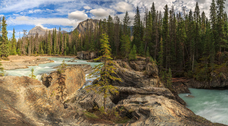 Natural Bridge with Mount Stephen, Yoho National Park, BC, Canada photo