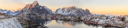 rorbuer: fishing towns in norway Stock Photo