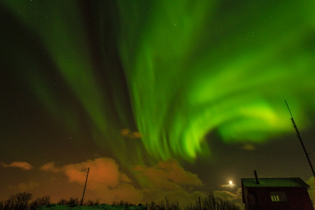northern: Northern Lights in Norway Stock Photo