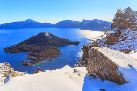 crater lake: Crater Lake National Park, Oregon, USA Stock Photo