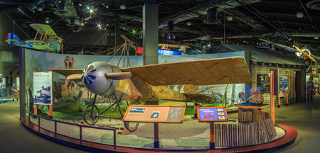 SEATTLE, WASHINGTON STATE, USA - OCTOBER 28, 2015: The Museum of flight is the largest private air and space museum in the world.
