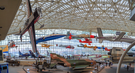 seattle: SEATTLE, WASHINGTON STATE, USA - OCTOBER 28, 2015: The Museum of flight is the largest private air and space museum in the world.