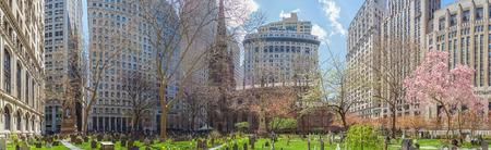 broadway tower: Trinity Church in Lower Manhattan