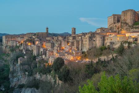 etruscan: Sorano - Etruscan tuff city, Italy