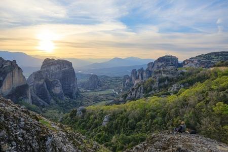 Monasteries of Meteora, Greece Stock Photo