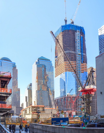 Building the World Trade Center Towers, USA