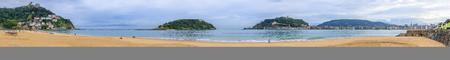 San Sebastian Beaches, Spain Standard-Bild