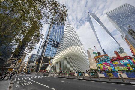 NEW YORK CITY / USA – OCTOBER 12, 2019:The new World Trade Center Transportation Hub