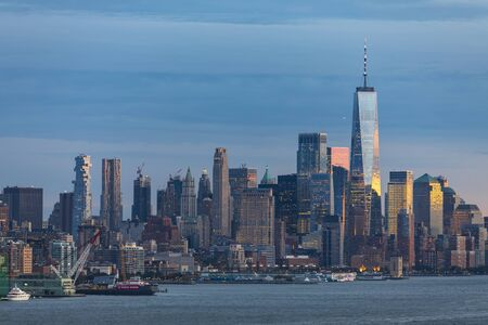 NEW YORK CITY / USA – OCTOBER 8, 2019: View of Manhattan, New York City, USA