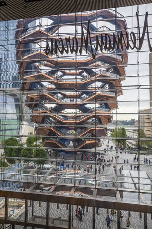 NEW YORK CITY / USA – OCTOBER 8, 2019: The Vessel in Hudson Yards
