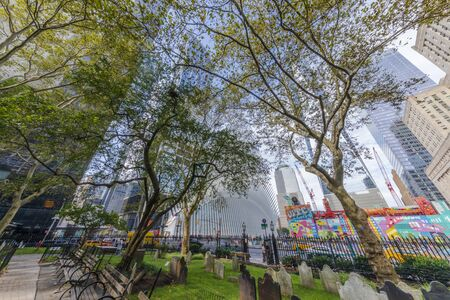 NEW YORK CITY / USA – OCTOBER 12, 2019:  Oculus: The new World Trade Center Transportation Hub