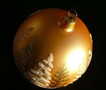 Christmas decoration - golden ball photo