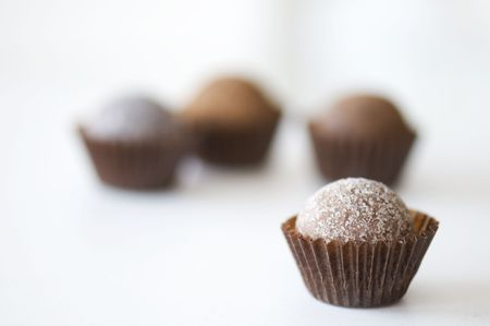 butter icing: Several assorted liqueur truffles