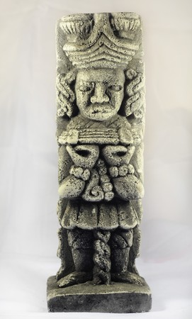 Mayan sculpture photo