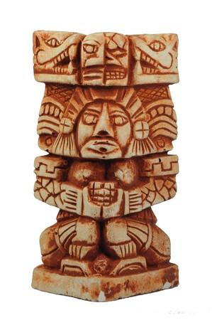Mayan sculpture Standard-Bild