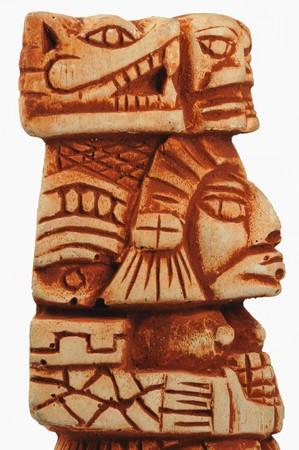 Oude Maya beeldhouwwerk