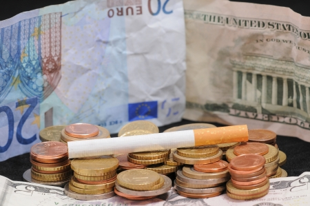 Cigarette and money photo