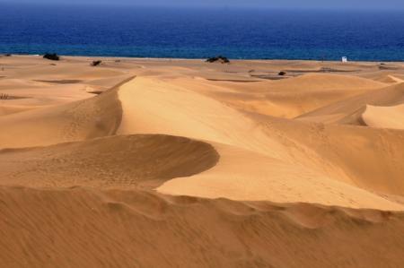 An Orange Sand Desert in Gran Canaria Island, Spain photo