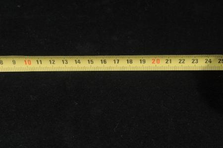 黒い背景に分離された計測定法