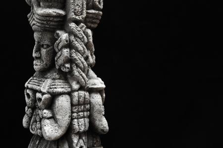 One Ancient Mayan Statue  Standard-Bild