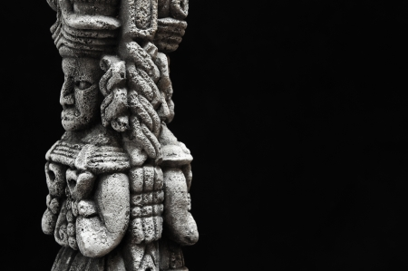 One Ancient Mayan Statue  Stock Photo