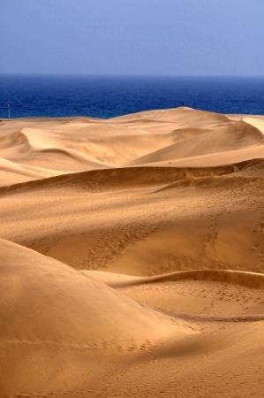 gran canaria: Een Oranje Zand woestijn in Gran Canaria, Spanje