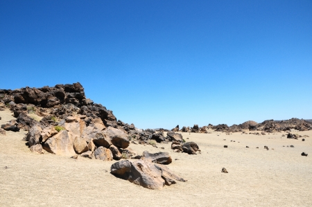 judean hills: Sand and Rocks Desert on Teide Volcano, in Canary Islands, Spain