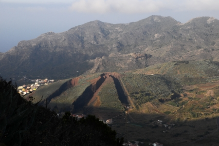 Strong Erosion on an Hill in Tenerife, Spain Stock Photo - 22587618