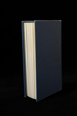 One Empty Book Isolated on a Black Background Stock Photo - 22760947