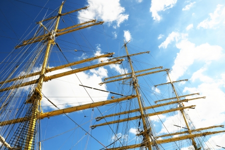 Crane masts of a vey big sailing ship  photo