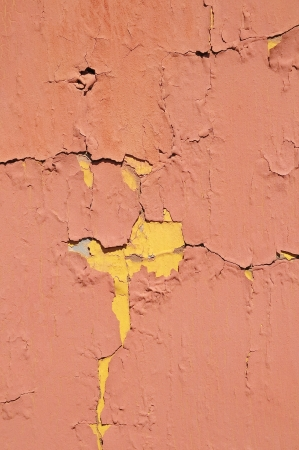 Old Colored Vintage Peeling Texture Painted Wall Pattern photo