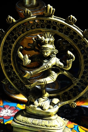 indian god: An Indian God Golden Statue
