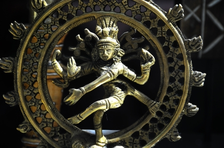 An Indian God Golden Statue photo