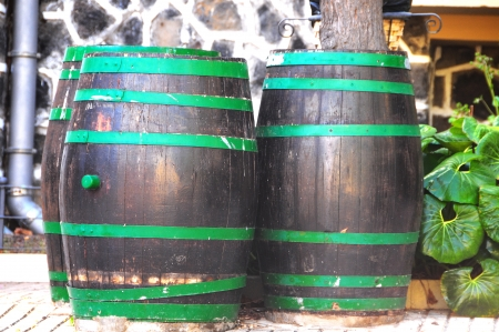 Old Barrels for Wine on a Private Garden photo