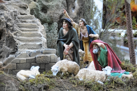 Ancient Civilization Christmas Crib People Statue Miniature photo