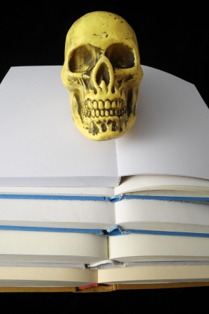 Empty Classic Book Isolated over a Black Background photo