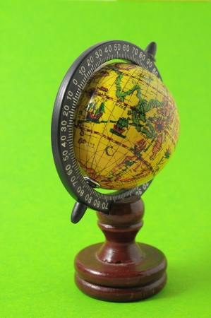The Globe Planet Earth on a Colored Background