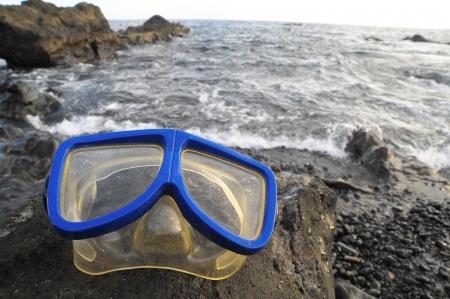 Old Vintage Diving Mask l Near The Atlantic Ocean photo