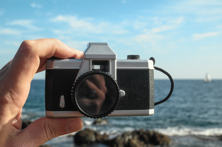 lomography: Photography Concept Classic Vintage 35mm Gray Plastic Camera