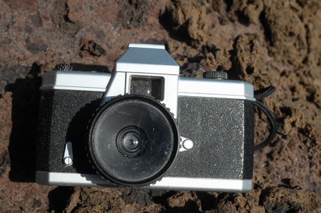 lomo: Photography Concept Classic Vintage 35mm Gray Plastic Camera