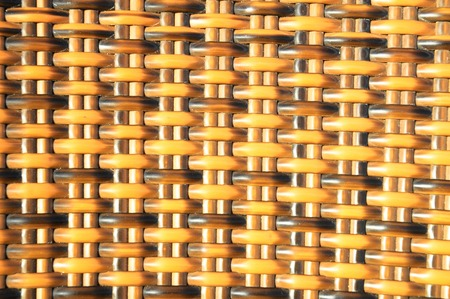 The Classic Brown Woven Rattan Background Pattern Texture photo