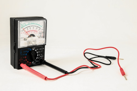 engineer's: Classic New Electricity Simple Tester Tool on a White
