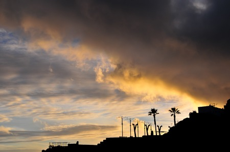 City Sunset Landscape in South of Tenerife Canary Island Spain photo