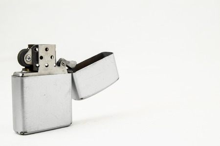 Vintage Style Lighter On a White Background Stock Photo - 26844672