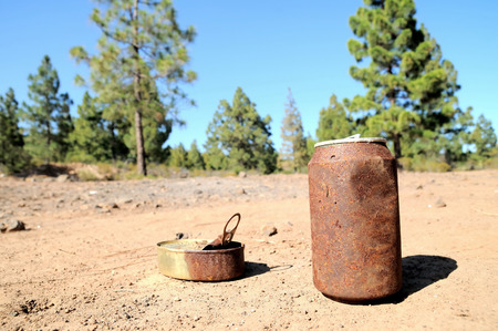Old Rusty Can on Floor into the Wild photo