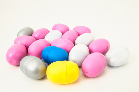 Eggs of a Slot Machine on White Background photo