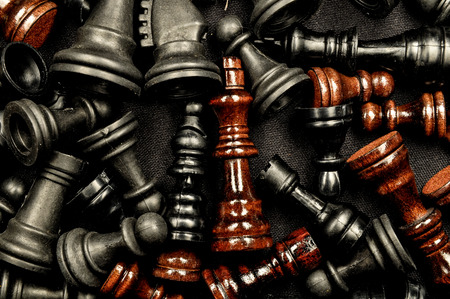 Chess Texture Pattern on a Black Background photo
