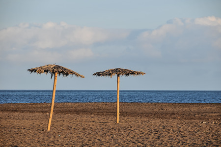 Beach Umbrella in Tenerife Canary Islands Spain Europe photo
