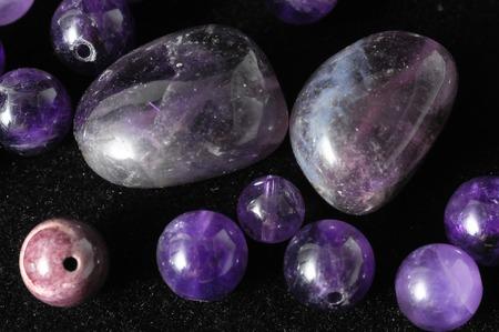 Amulet Amethyst Stone Ready to Make Handmade Jewelry photo