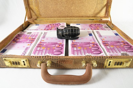 One Suitcase Full of Pink 500 Euros and an Hand Grenade photo